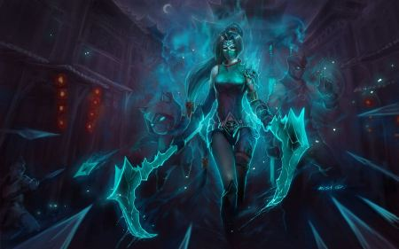 Free League of Legends Akali Wallpaper