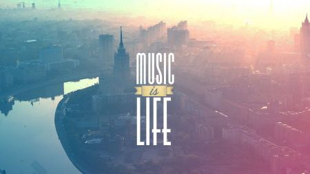 Free Music Is Life Typography Cityscapes Russia Moscow Rivers Backgrou