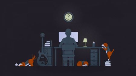 Free Cue Beagle Dogs Desktop Computers Pc Clocks Guitars Minimalistic