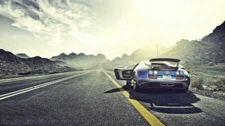 Free Mountains Clouds Sun Sunlight Roads Bugatti Veyron Grand Sport Ve