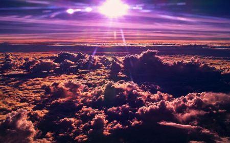 Free Purple Skies Wallpaper