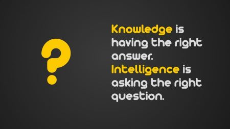Free quotes typography knowledge questions intelligence