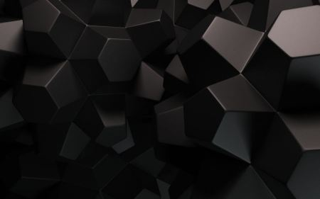 Free Abstract Black Dark Cubes