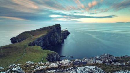 Free Beautiful Scotland Ocean Landscapes Light House Sea