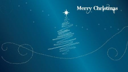 Free Minimalistic Christmas Trees Blue Background