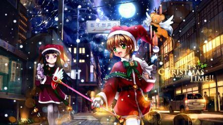 Free Christmas Anime Girls in Santa Dress