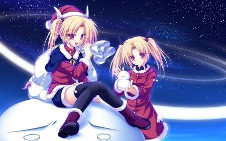 Free Anime Girls in Santa Costume
