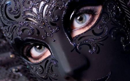 Free Women Eyes Models Wearing Black Masquerade Mask
