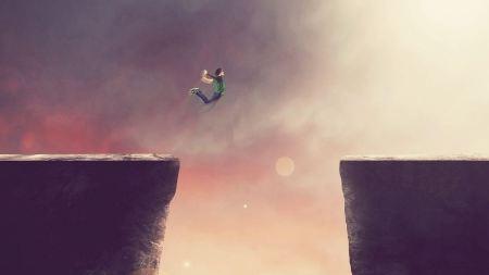Free Cliffs Jumping Boys Jump Minimal Art