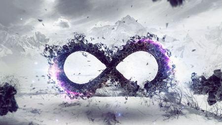 Free Abstract Digital Art Purple Infinity