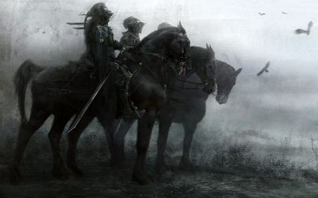 Free Knights Riding into Battle