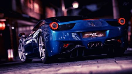 Free Blue Ferrari Gran Turismo 5 Races Playstation