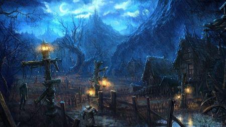 Free Dark Rainy Village