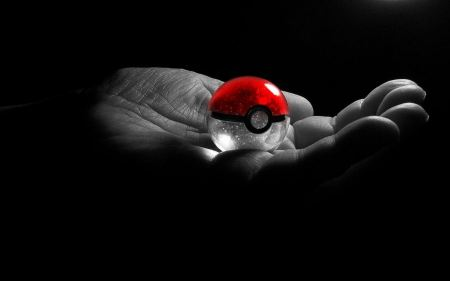 Free Pokemon Hands Grayscale Selective Coloring Pokeball