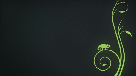 Free Minimalistic Green Linux Opensuse Chameleon