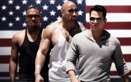 Free Pain and Gain Wallpaper Mark Wahlberg, The Rock, Anthony Mackie