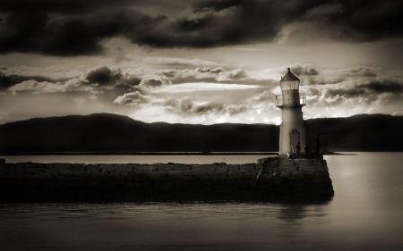 Free Sepia Light House