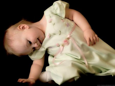 Free Baby Girl in Spring Dress