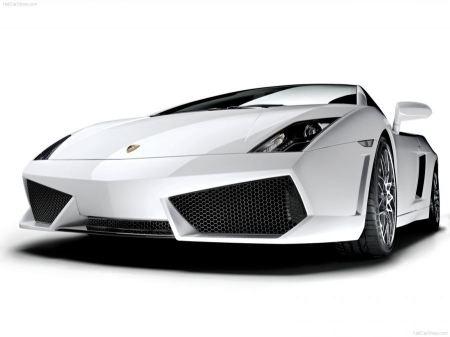 Free Slick White Lamborghini