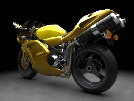 Free Yellow Sports Bike