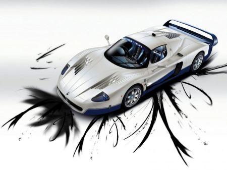 Free Artistic Race Car