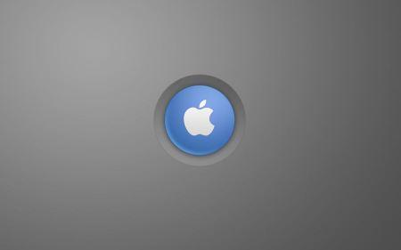 Free Apple Blue Button