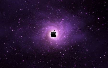 Free Apple Logo in Space