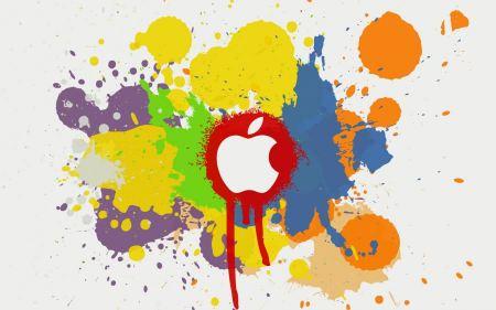 Free Apple Logo Paint Splatter