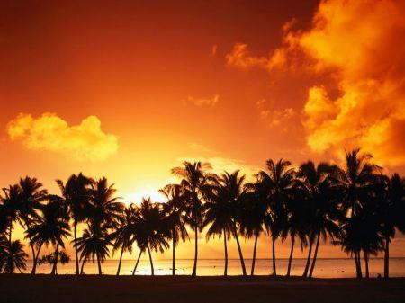 Free Aitutaki Island at Sunset, Cook Islands