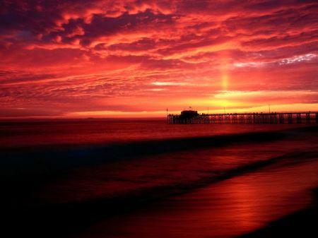 Free Balboa Pier at Sunset