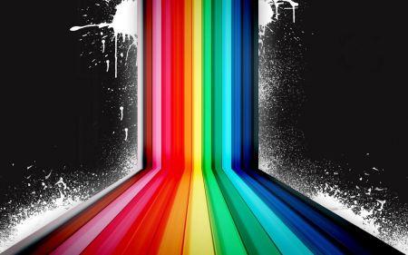 Free Dark Rainbow Vector