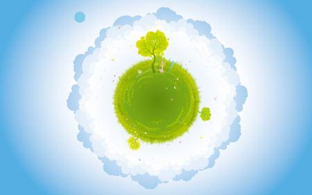 Free Green Earth Vector