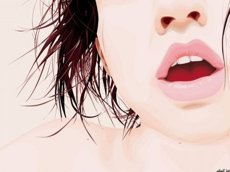 Free Girl Lips Vector