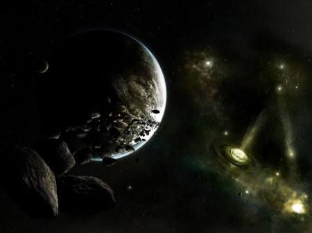 Free One Planet Near a Distant Galaxy