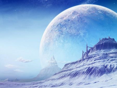 Free Icy City on a Distant Planet