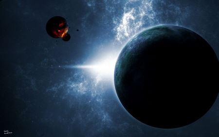 Free Two Orbiting Moons Crashing