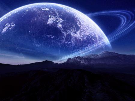 Free Ringed Planet Horizon