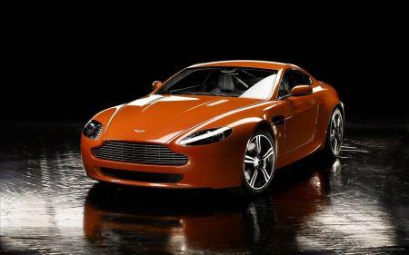 Free Slick Orange Aston Martin