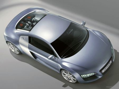 Free Top-View Silver Audi