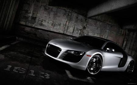 Free Audi in Parking Garage