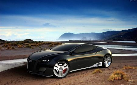 Free Slick Black Audi Concept Car