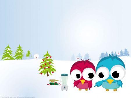 Free Funny Christmas Birds