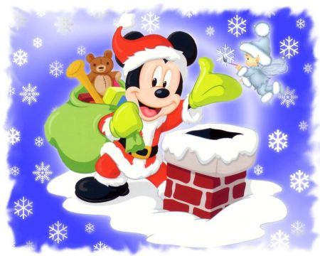 Free Mickey Mouse Santa