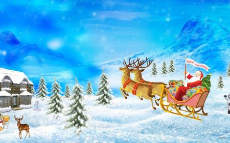 Free Santa Merry Christmas