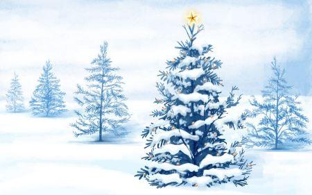 Free Christmas Snow Trees