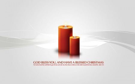Free God Bless You Christmas Candles