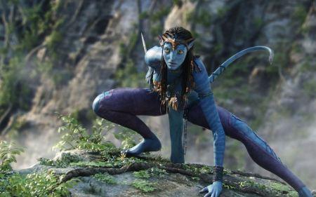 Free Neytiri in Action: Avatar Poster