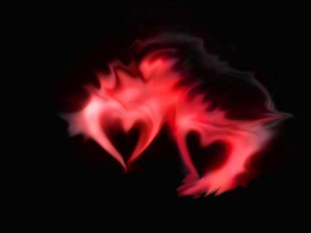 Free Blurry Hearts