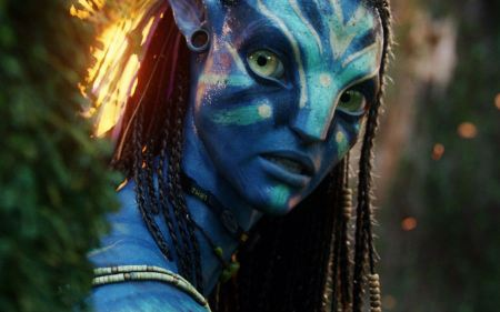 Free Neytiri Beautiful Warrior in Avatar Still