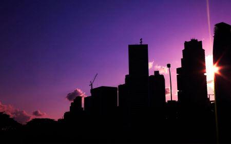 Free Urban Sunset